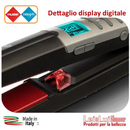 Piastra CP3 dig Laser Ion Tourmaline – particolare display – b – mod.1-rig.7-id.304 – in cornice