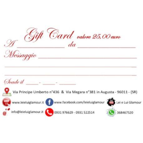 Gift Card 25_x il sito